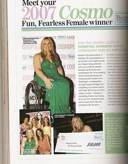Paralympian named Fun Fearless Female by Cosmopolitan Magazine