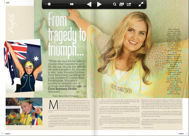 photographs of magazine article