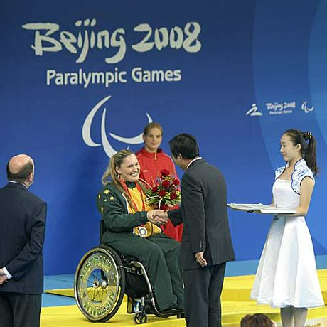 Maroochydore Paralympian Marayke Jonkers won a Paralympic silver medal in the 150m individual medley.