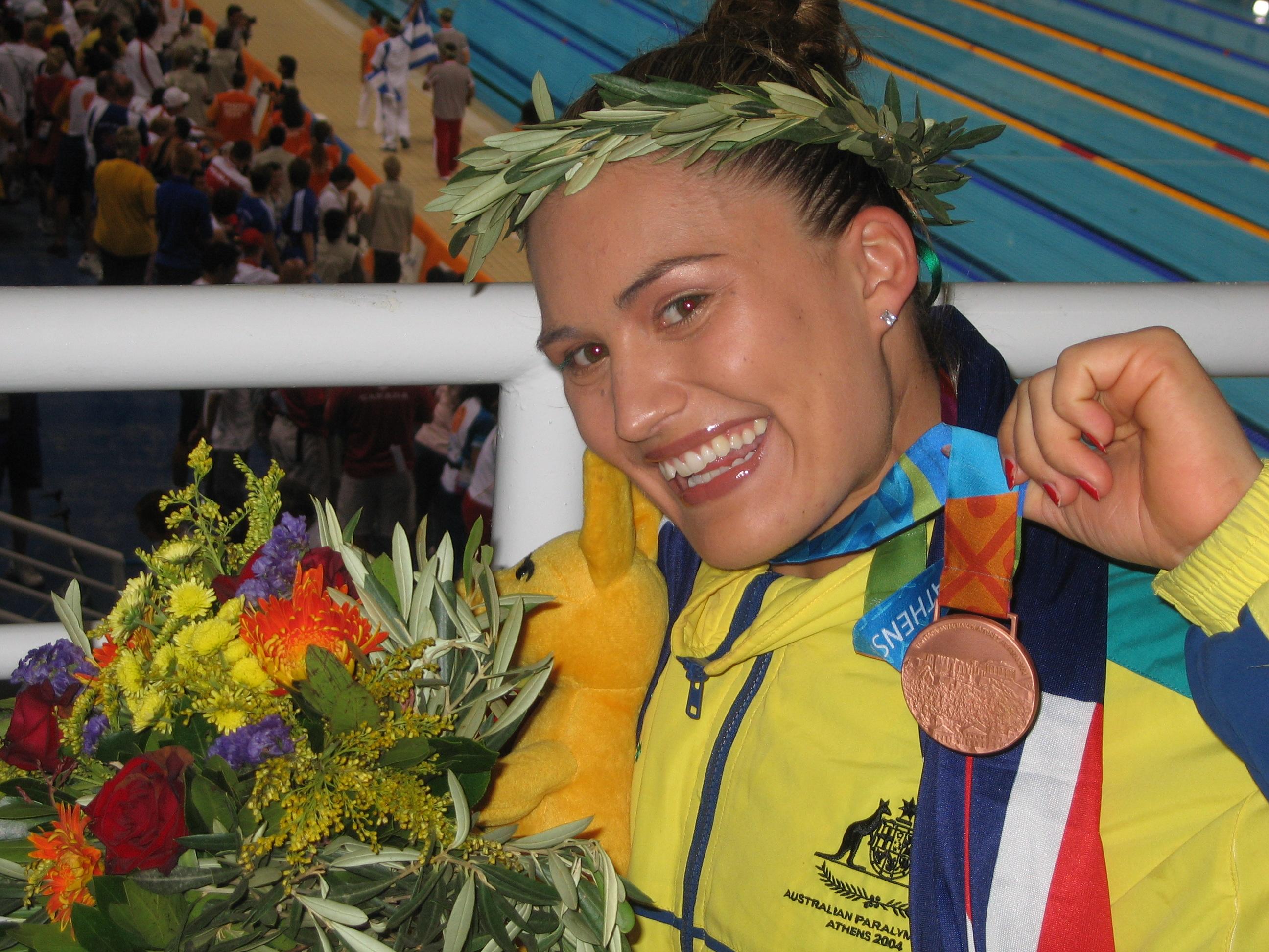 2 medal athens pool behind
