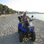 my wheelchair on the Greek islands