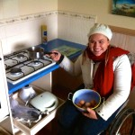 Accessible kitchen drawers-  fresh farm eggs collected from chickens