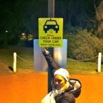penguin parking sign