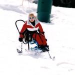 Marayke sit skiing