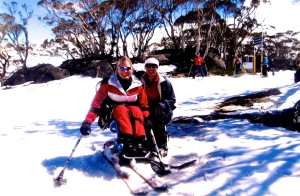 Me and my sister Gemma hit the slopes at Perisher