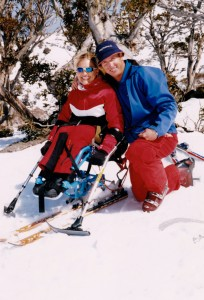 Marayke and ski instructor Allan Davis