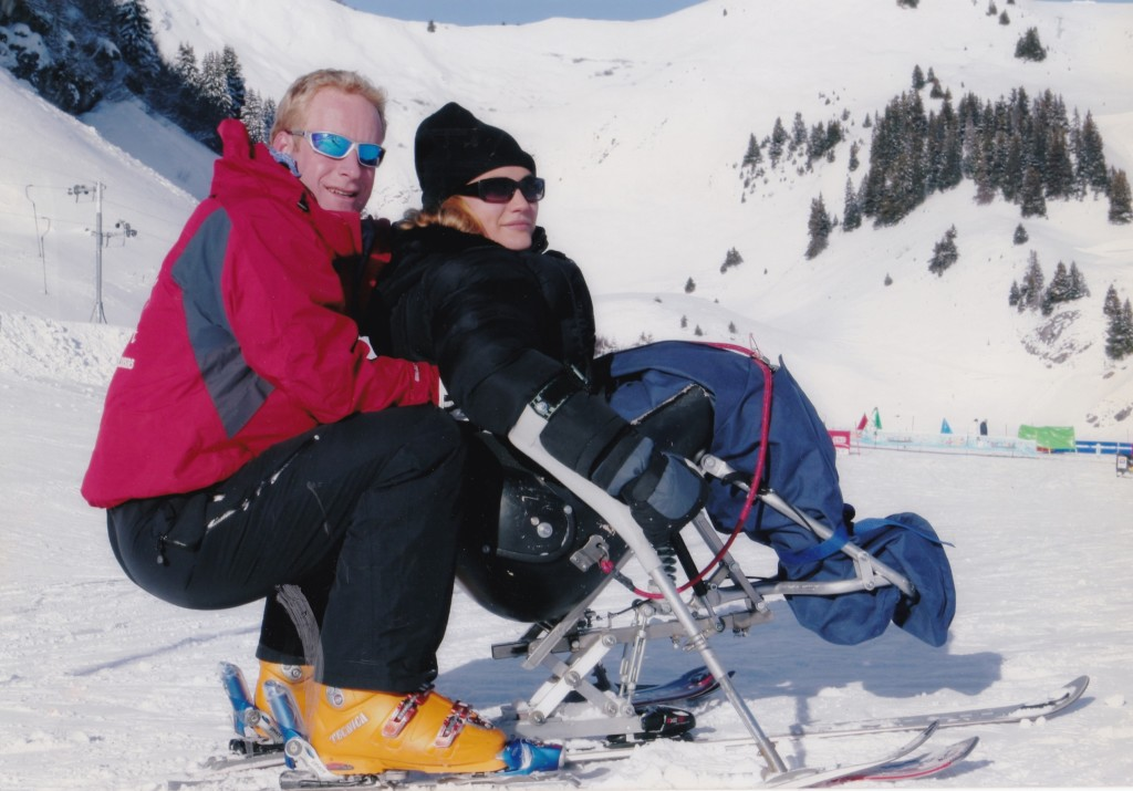 Marayke and ski instructor Simon